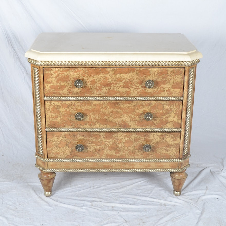 Bachelor Chest With Marble Top By Swaim