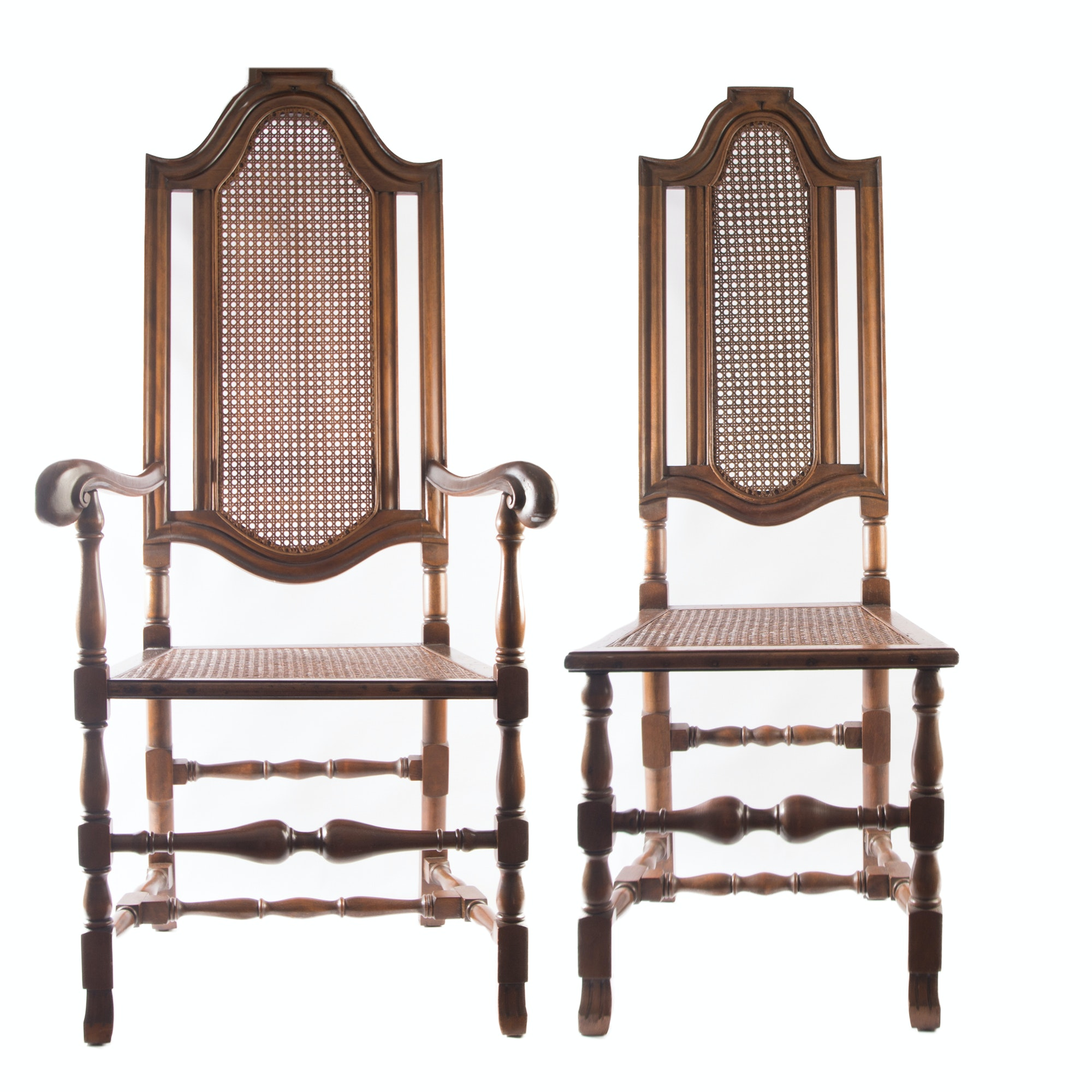 Vintage William & Mary Style Chairs