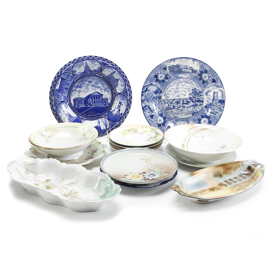 Tableware Featuring Nippon, M Z  Austria and Staffordshire