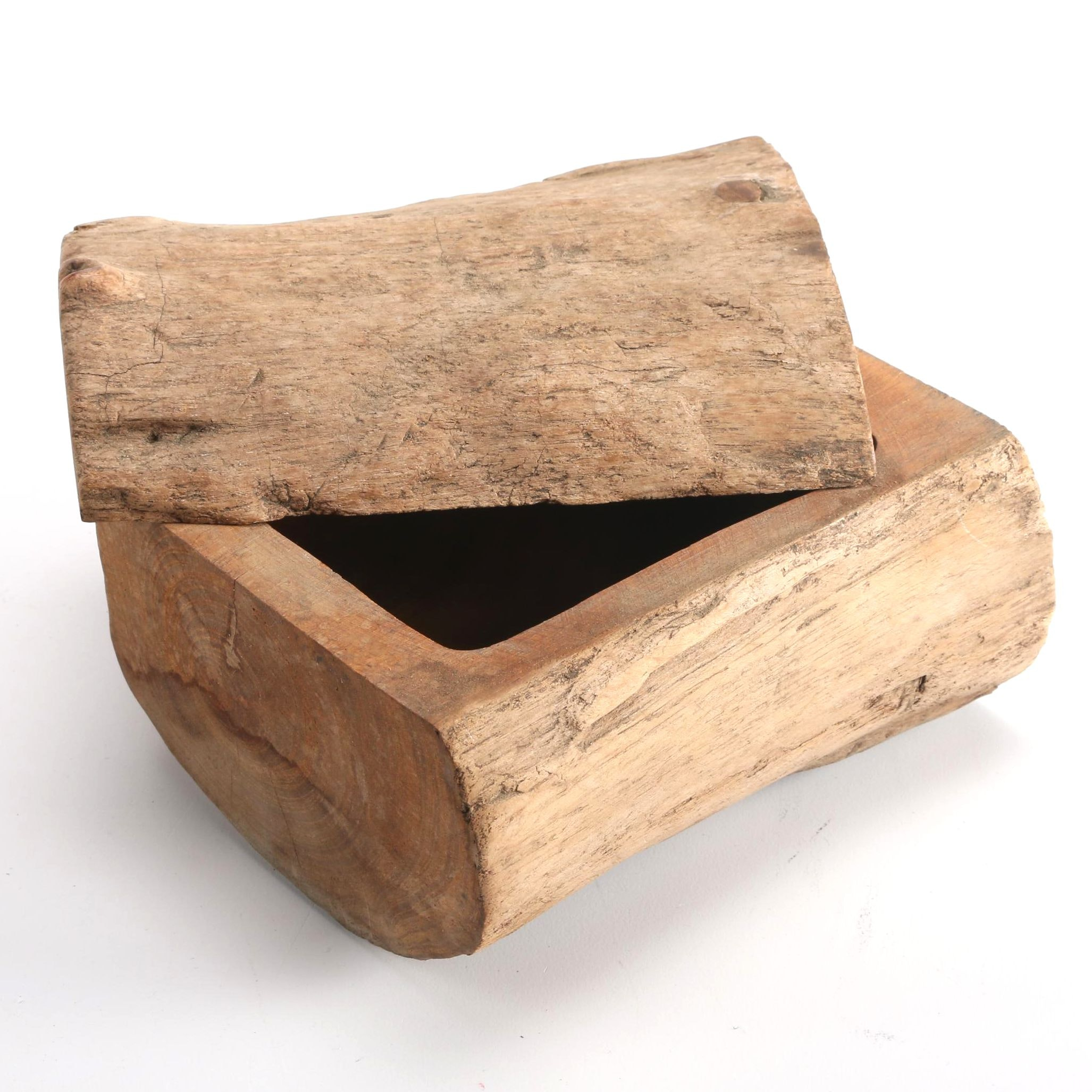 Wooden Log Box