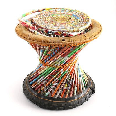 Art Deco Multi Colored Stool