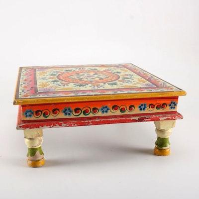 Wooden Floral Motif Table