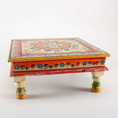Wooden Floral Motif Table