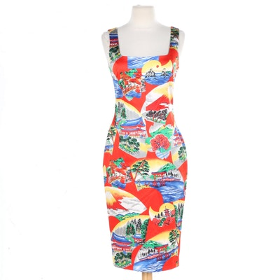 D&G Dolce & Gabbana Japanese Print Dress