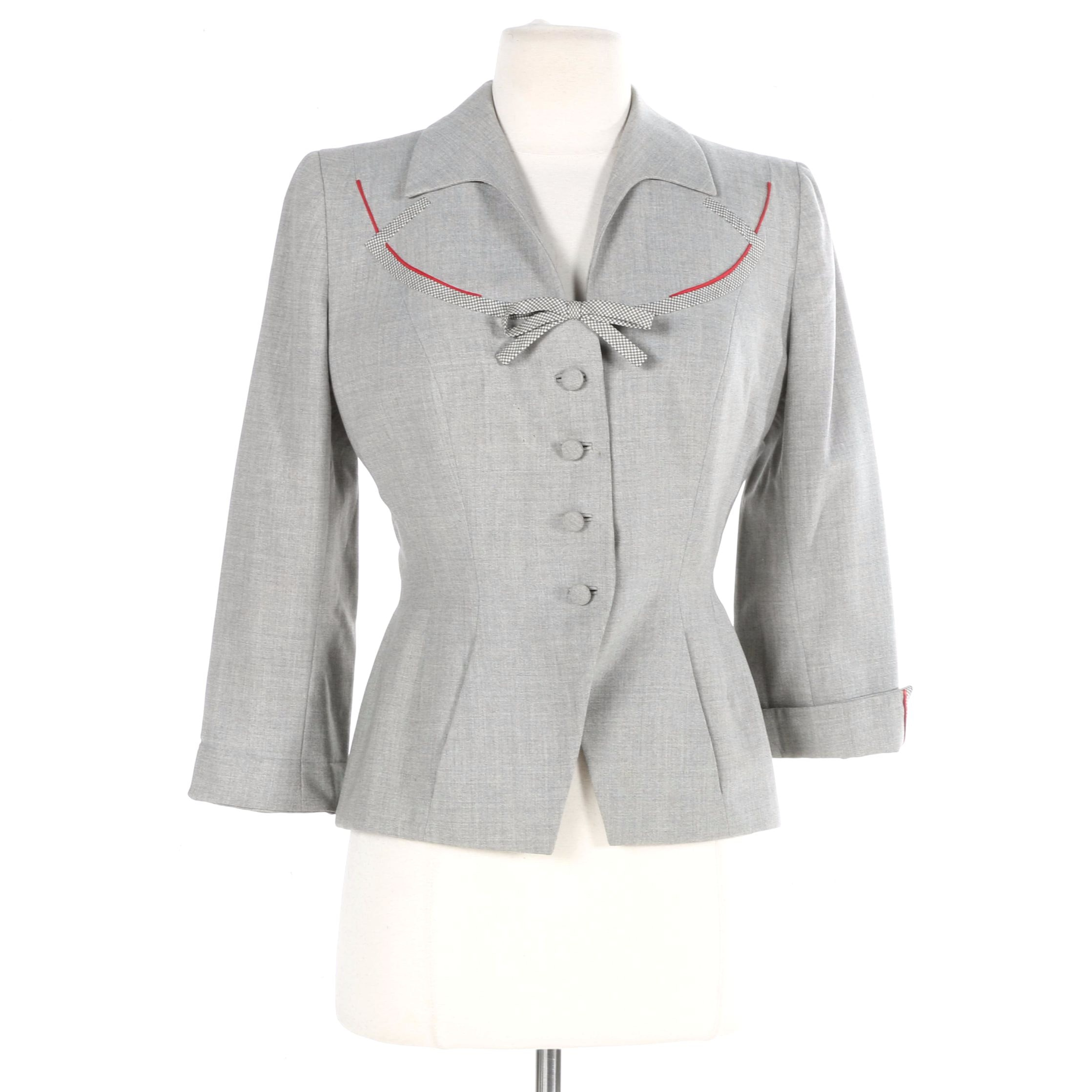 1940s Jay Thorpe Grey Blazer