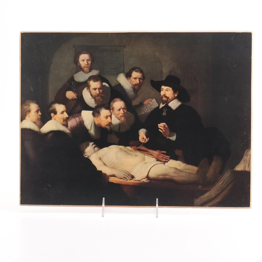 Offset Lithograph Rembrandt The Anatomy Lesson Of Dr Nicolaes Tulp