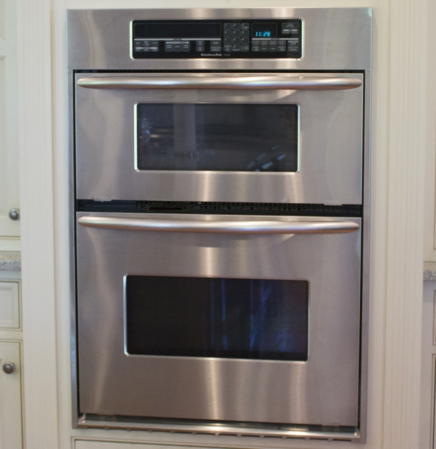 Kitchenaid superba convection wall oven with built in for Kitchenaid microwave