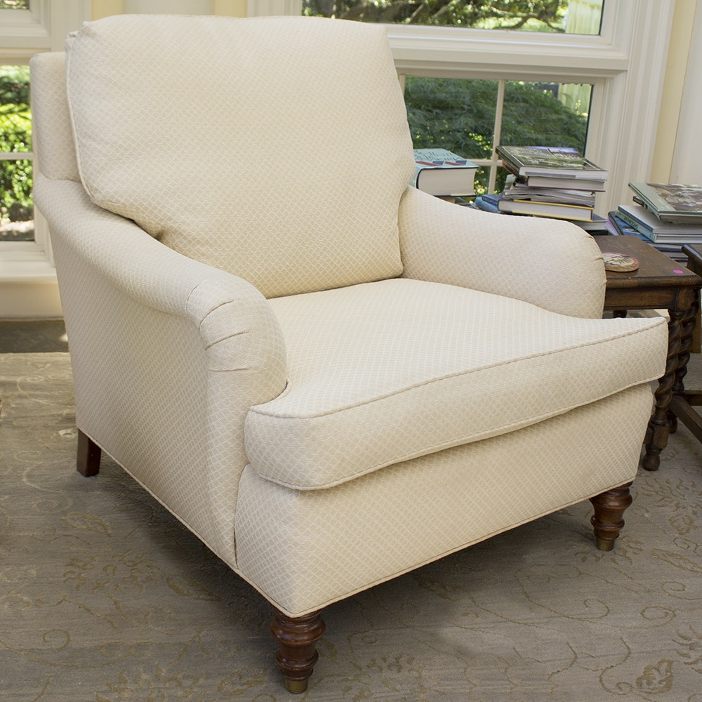 TRS Furniture Cream And White Diamond Patterned Armchair ...