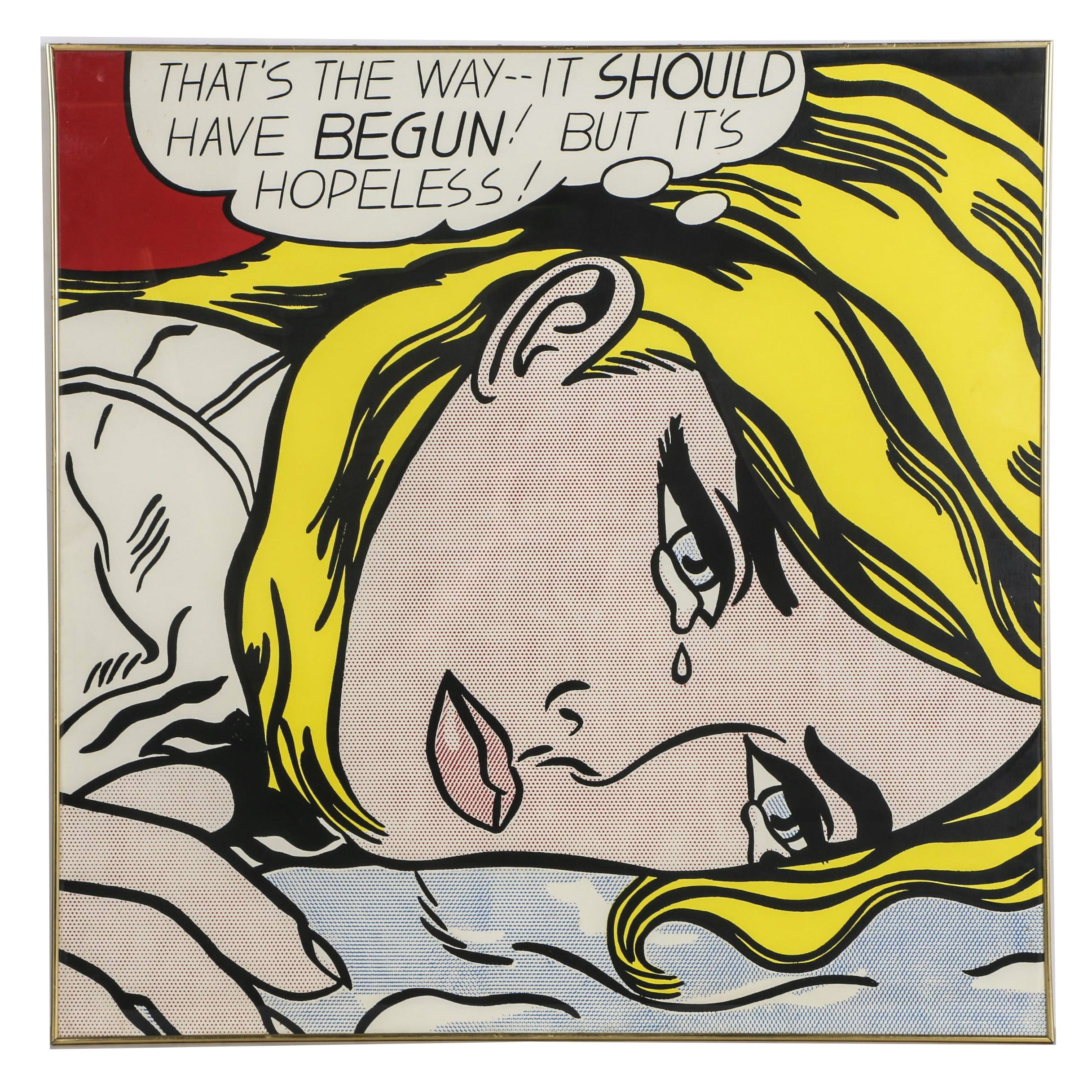 "Serigraph on Paper After Roy Lichtenstein ""That's The Way -- It Should Have Begun! But It's Hopeless!"""