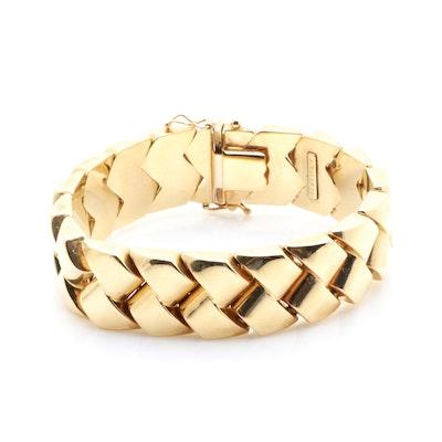 14K Yellow Gold Woven Link Bracelet