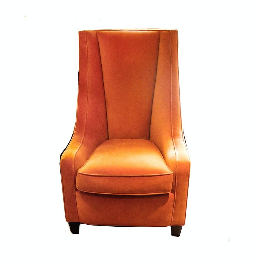Burnt Orange Velvet Chair By Furniture Your Way Ebth