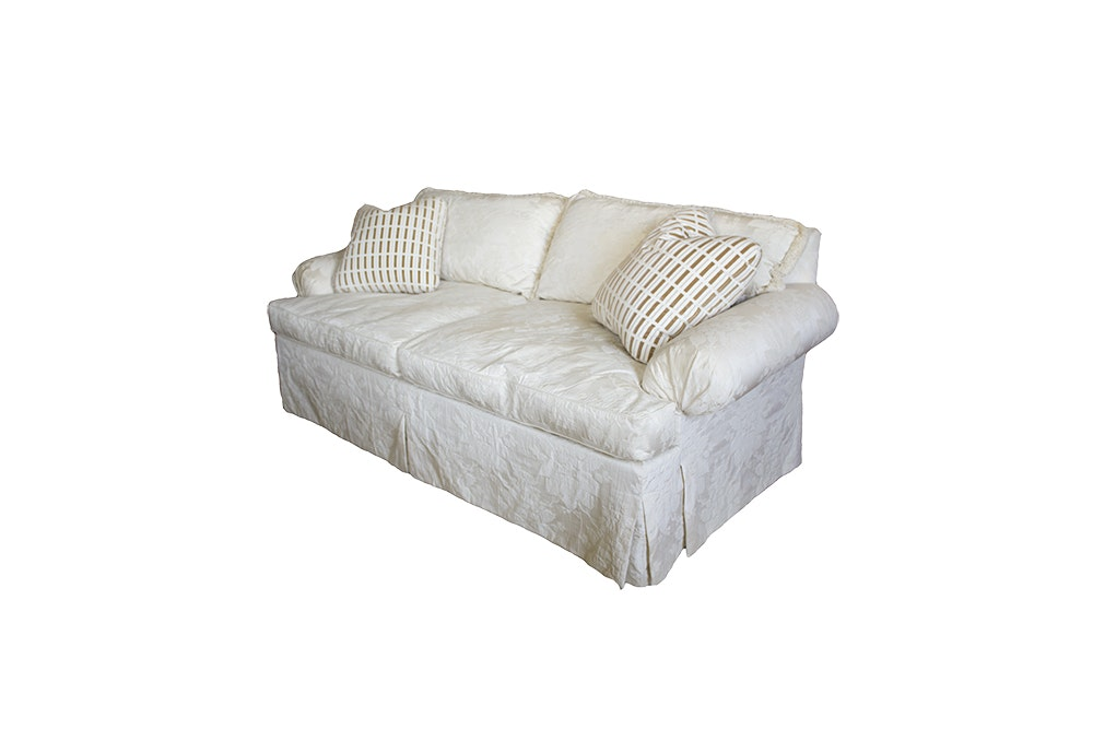 Upholstered Sovereign Collection Sofa By Hickory Chair.
