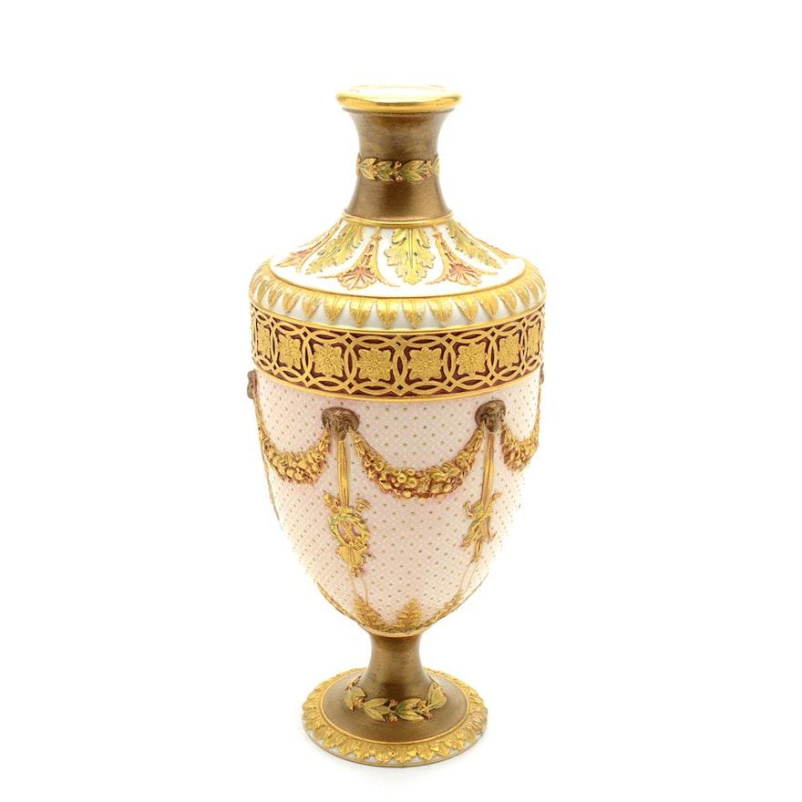 Antique Wedgwood Porcelain Urn Vase Ebth