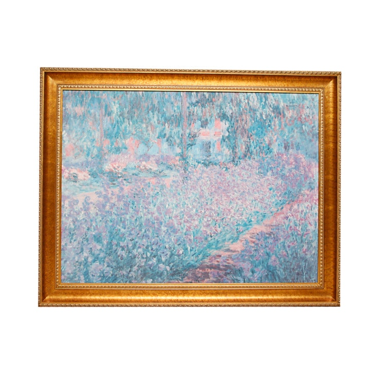"""Giclee Print After Claud Monet of """"Garden In Giverny"""""""