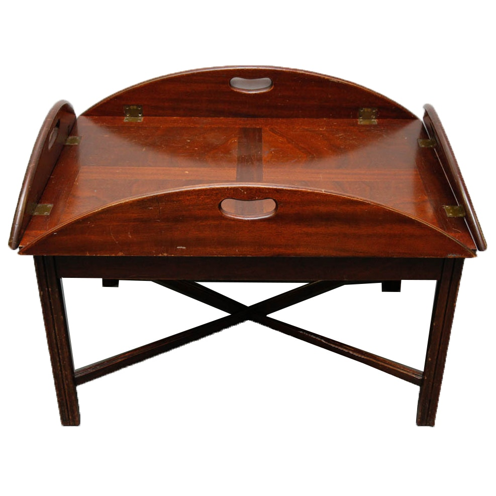 Vintage Mahogany Butlers Tray Table ...
