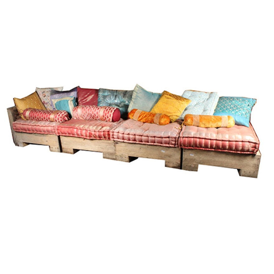 Teak Wood Outdoor Sectional Couch Ebth