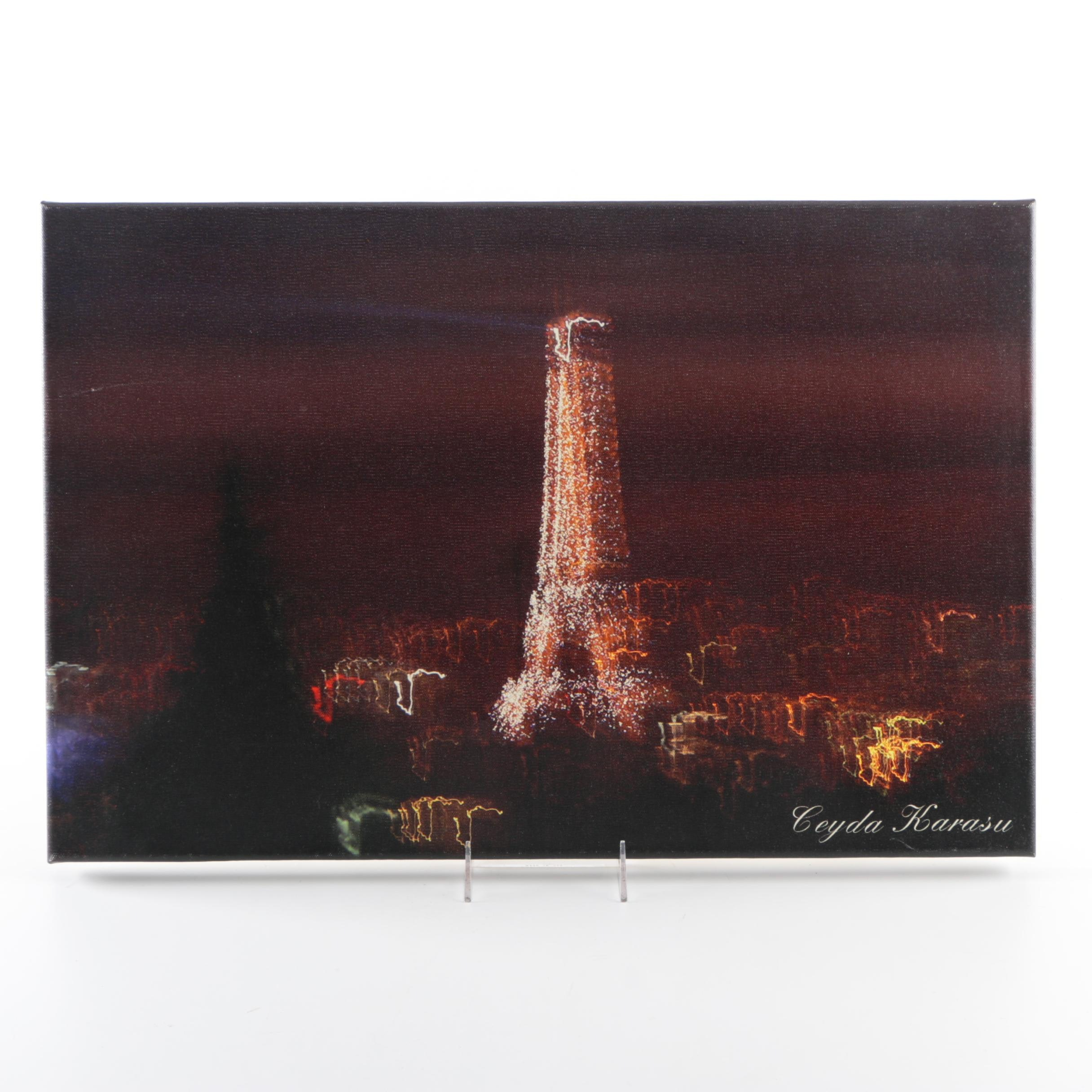 Giclee Print on Canvas of a Cityscape