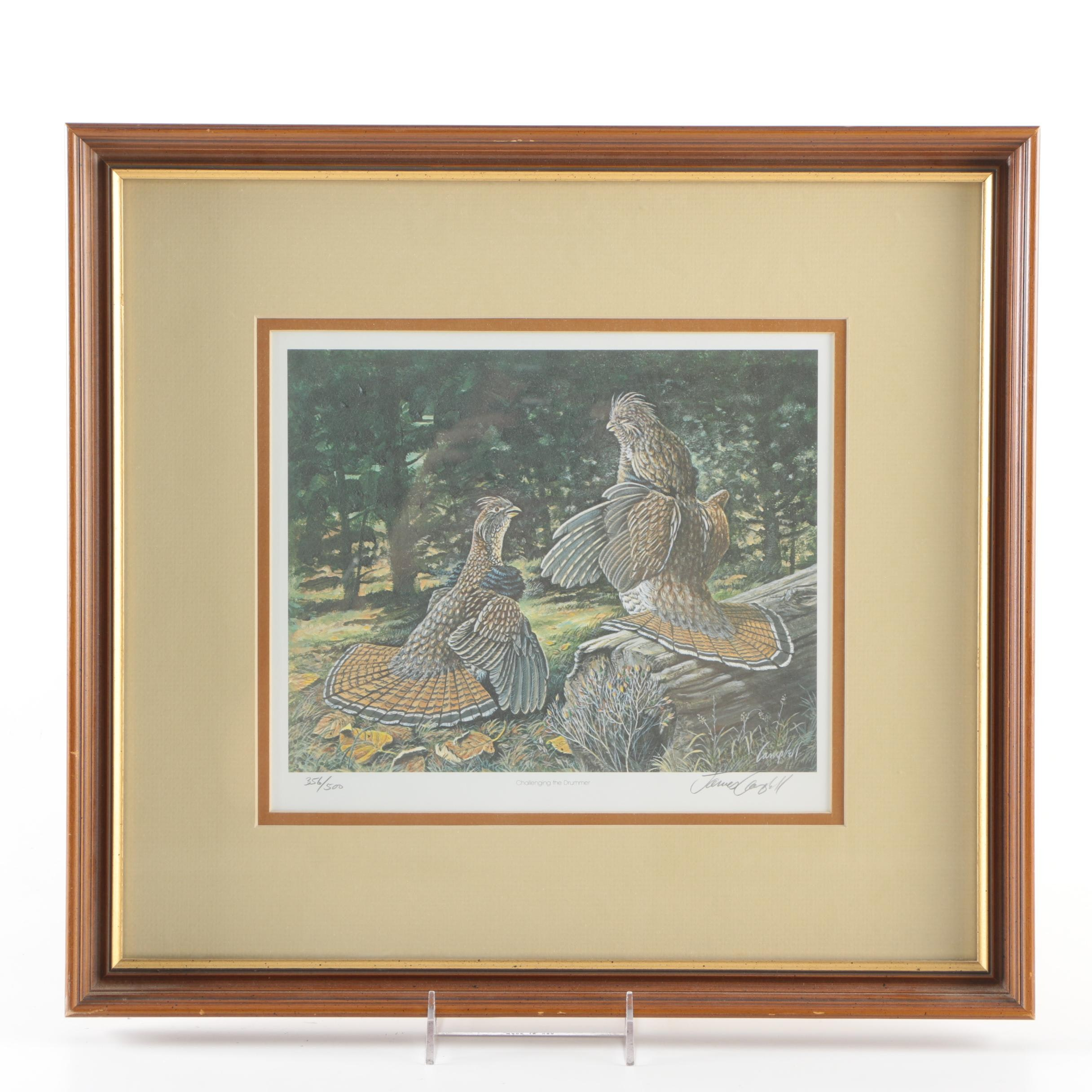 """James Campbell Limited Edition Offset Lithograph """"Challenging the Drummer"""""""