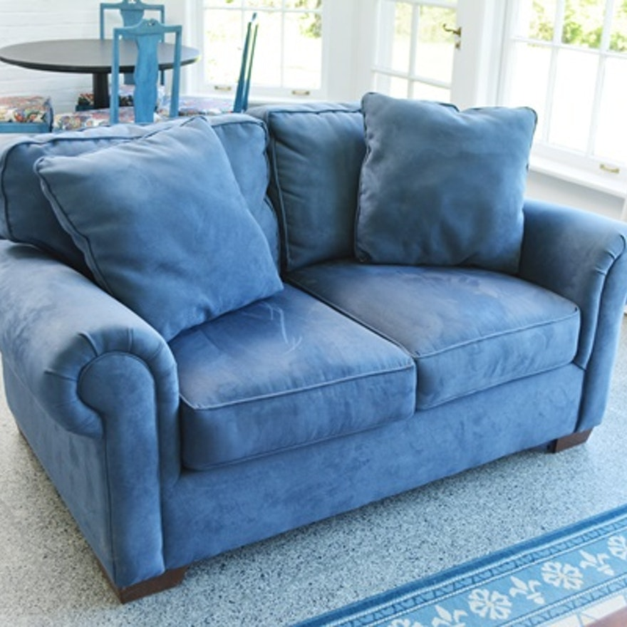 Bauhaus Furniture Blue Micro Suede Sofa