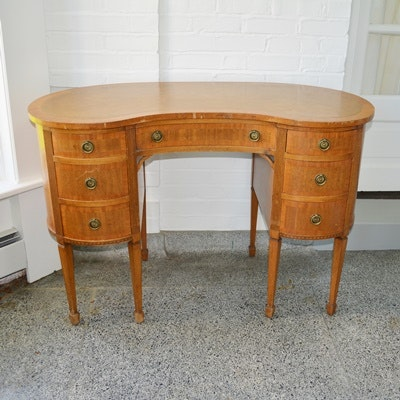 Antique Kidney Desk Antique Furniture