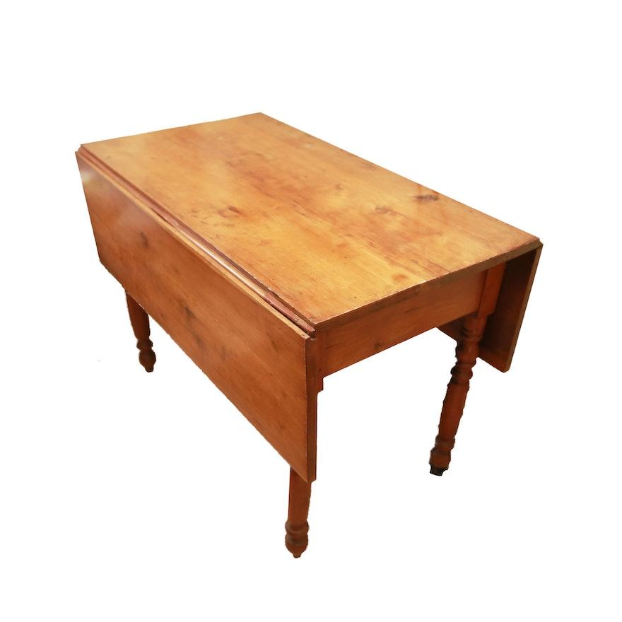 Rustic Pine Drop Leaf Table