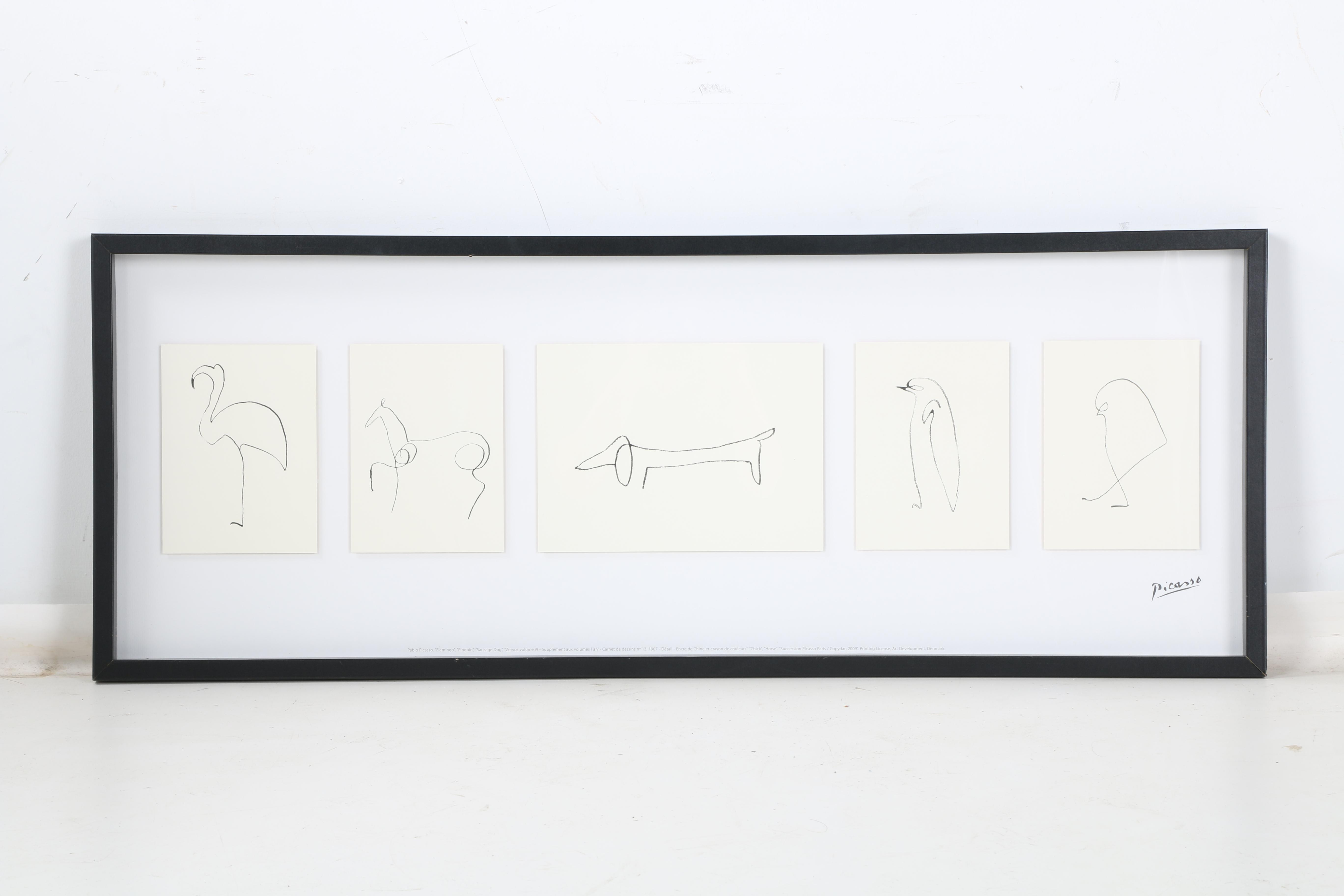 After Pablo Picasso Offset Lithographs Quot Sketches Of
