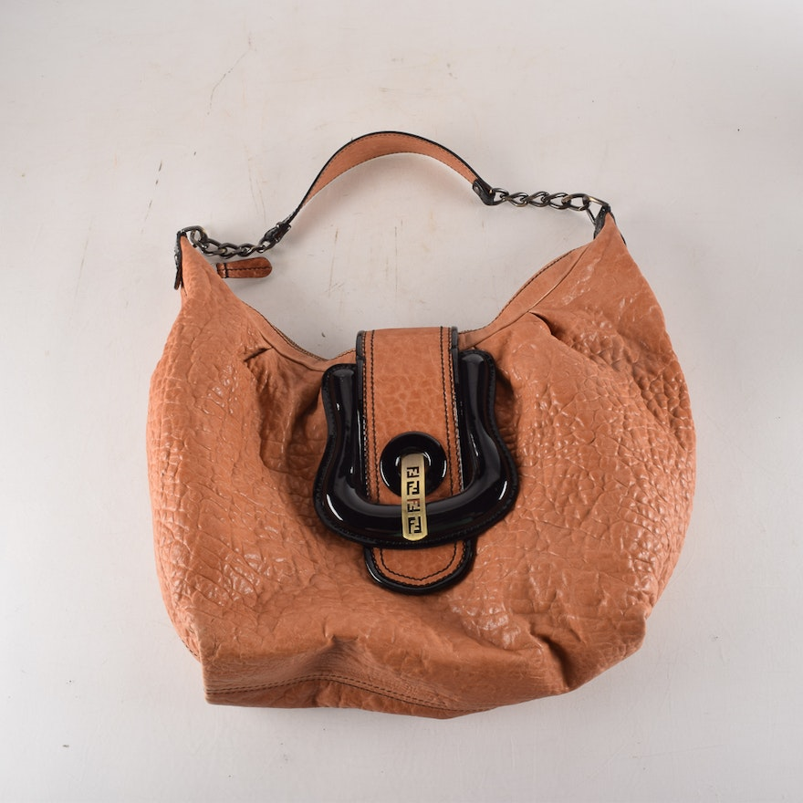 1a82091126 Fendi Mahogany Leather B Bag : EBTH