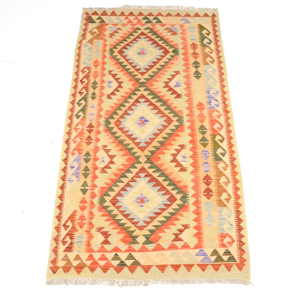 Handwoven Turkish Kilim Area Rug