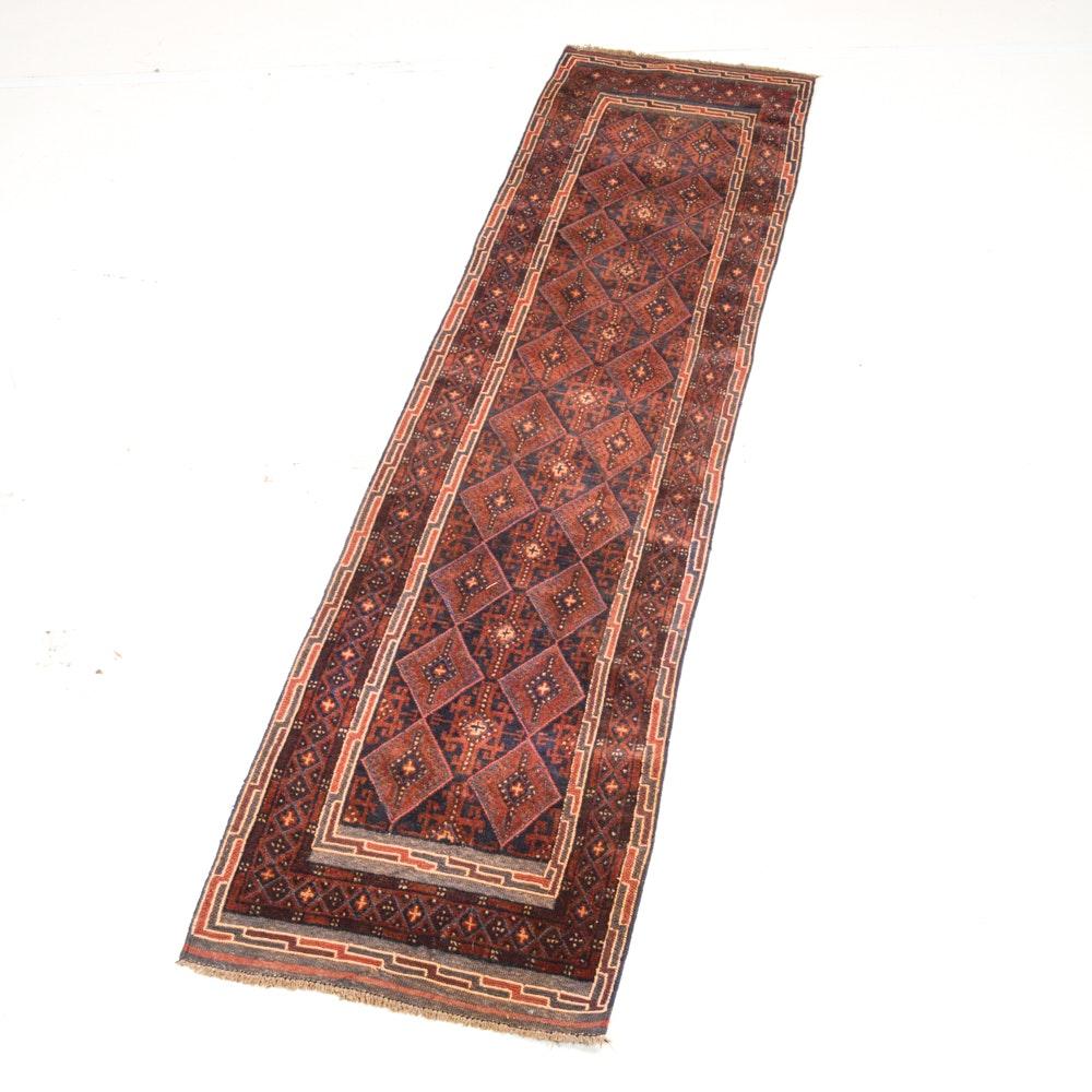 Handwoven Persian Baluch Carpet Runner