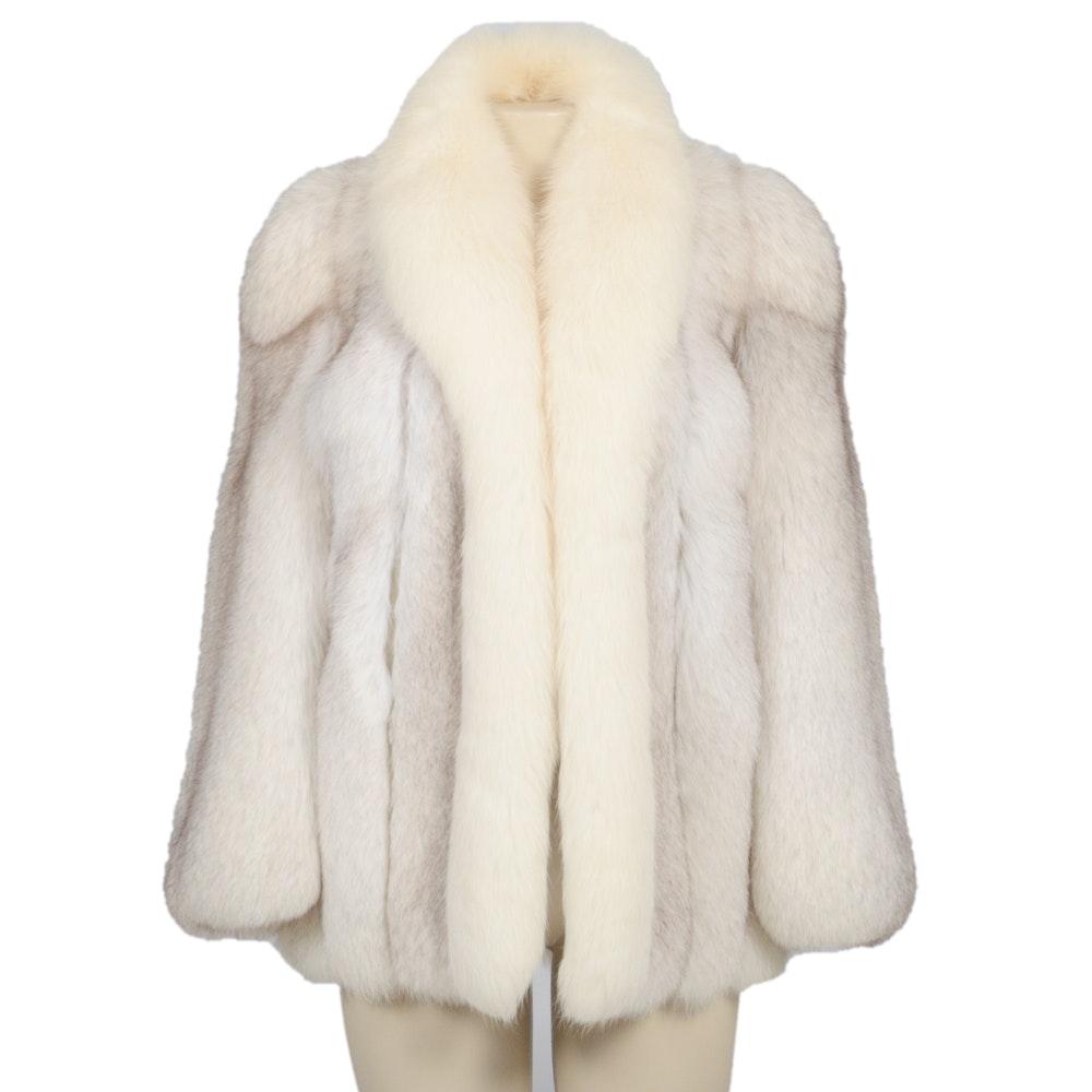 Vintage Blue Fox Fur Jacket