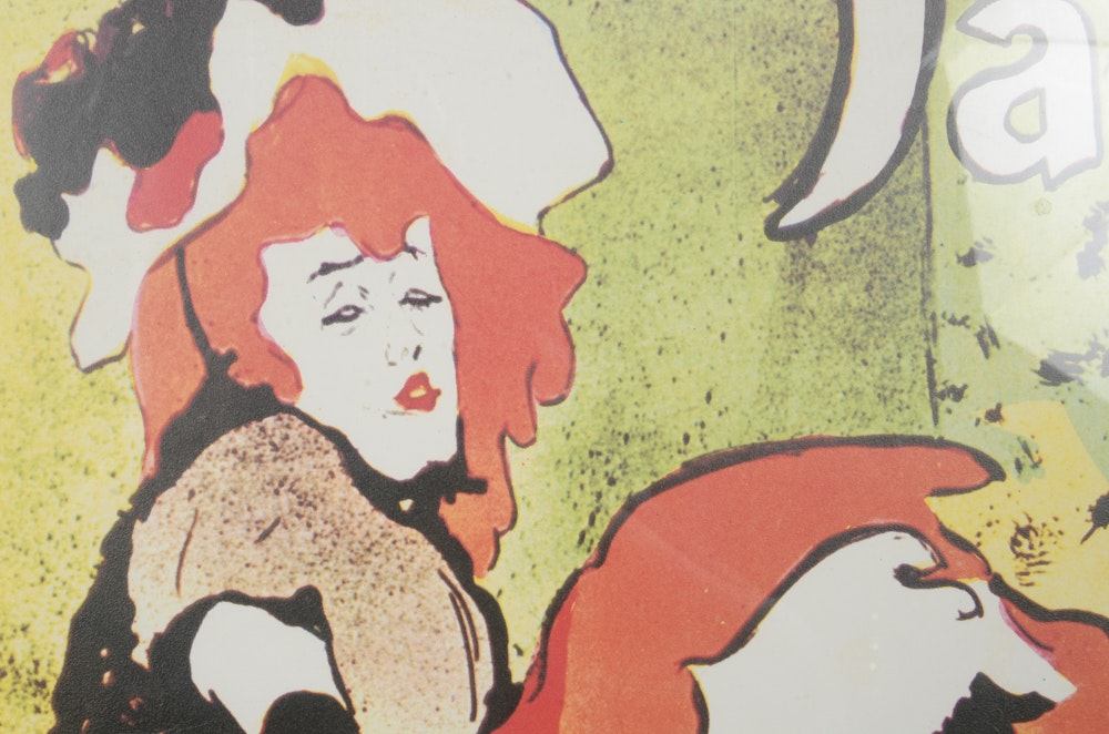 Offset lithograph after toulouse lautrec 39 s poster jane for Jardin de paris jane avril