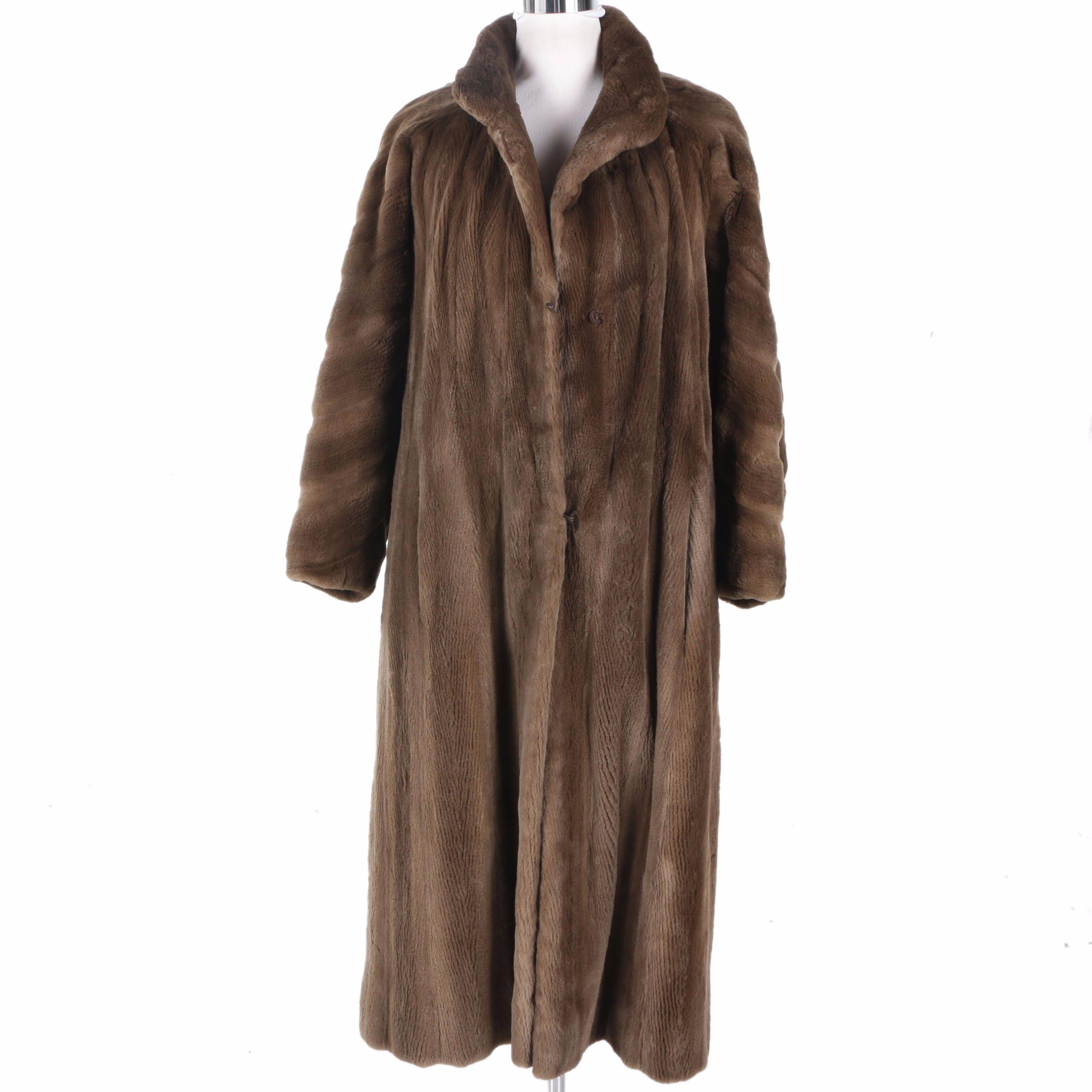 Bob Mackie Sheared Mink Coat
