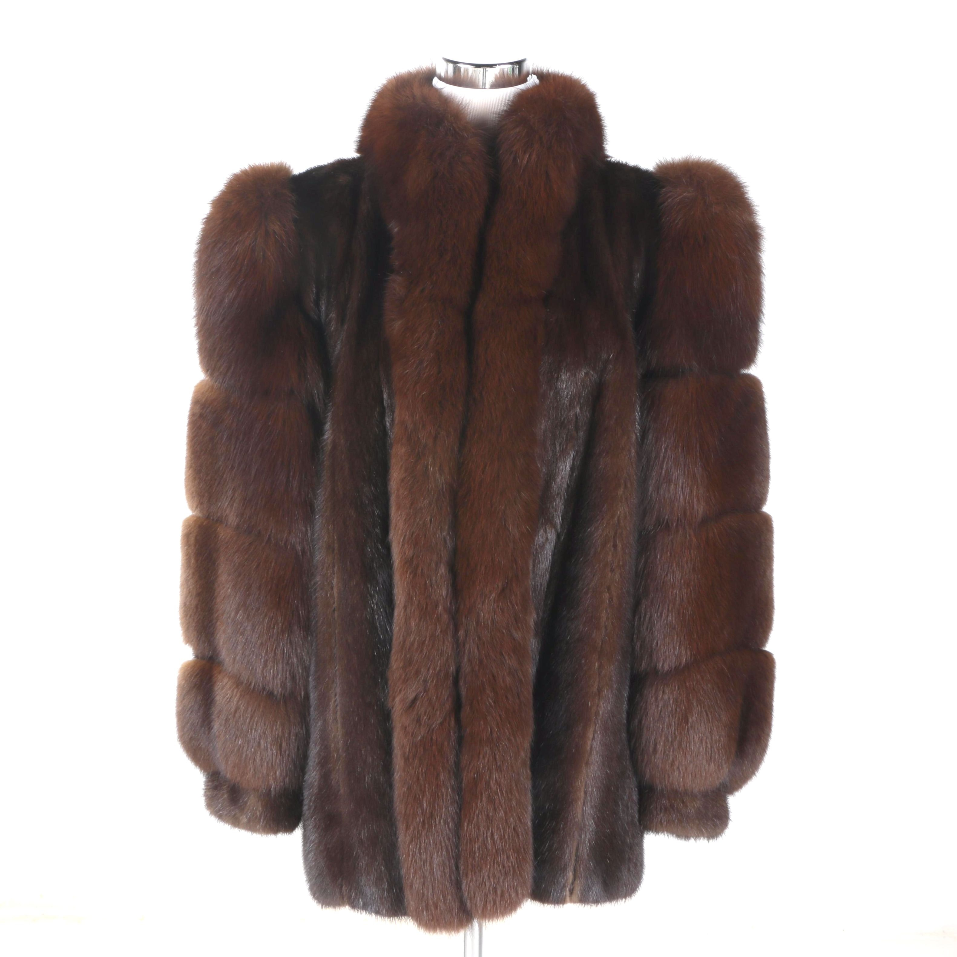 S. Garber Furs Mink and Fox Fur Coat