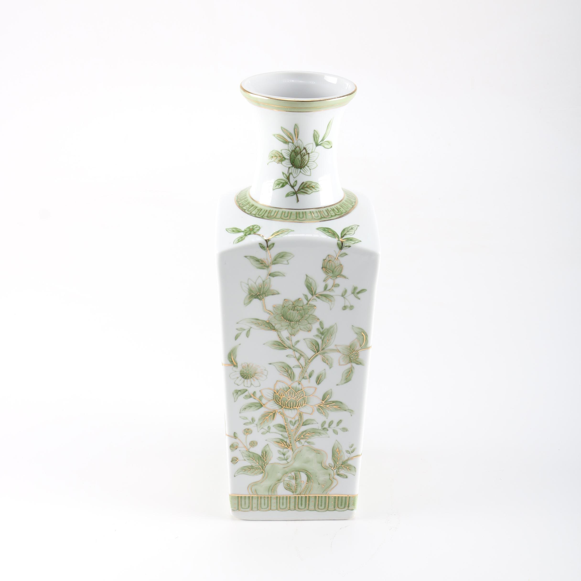 Hand-Painted Ceramic Floral Vase