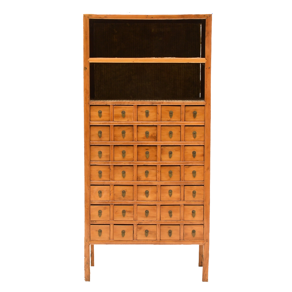 Antique East Asian Apothecary Cabinet : EBTH