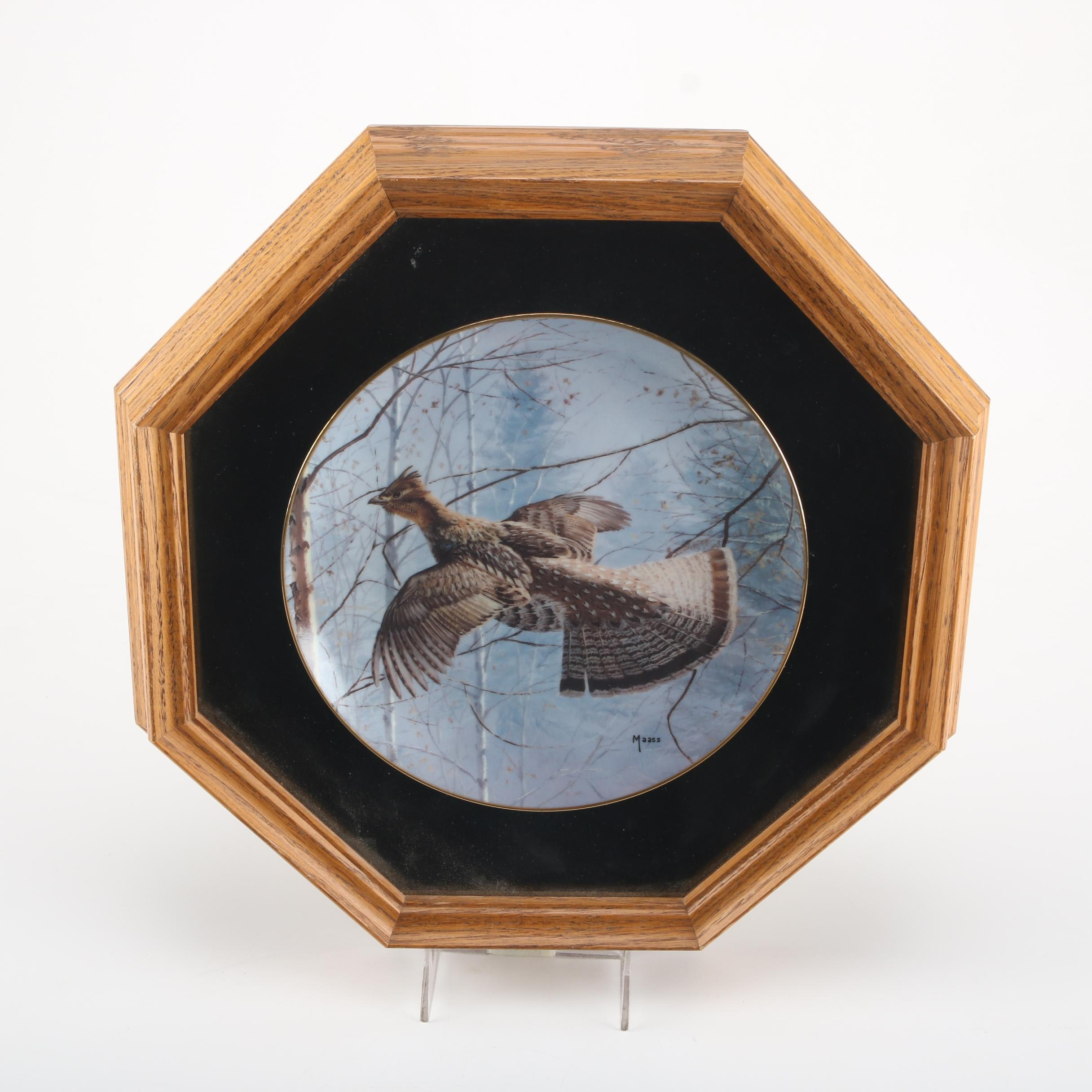 David A. Maass Commemorative Plate of Ruffed Grouse
