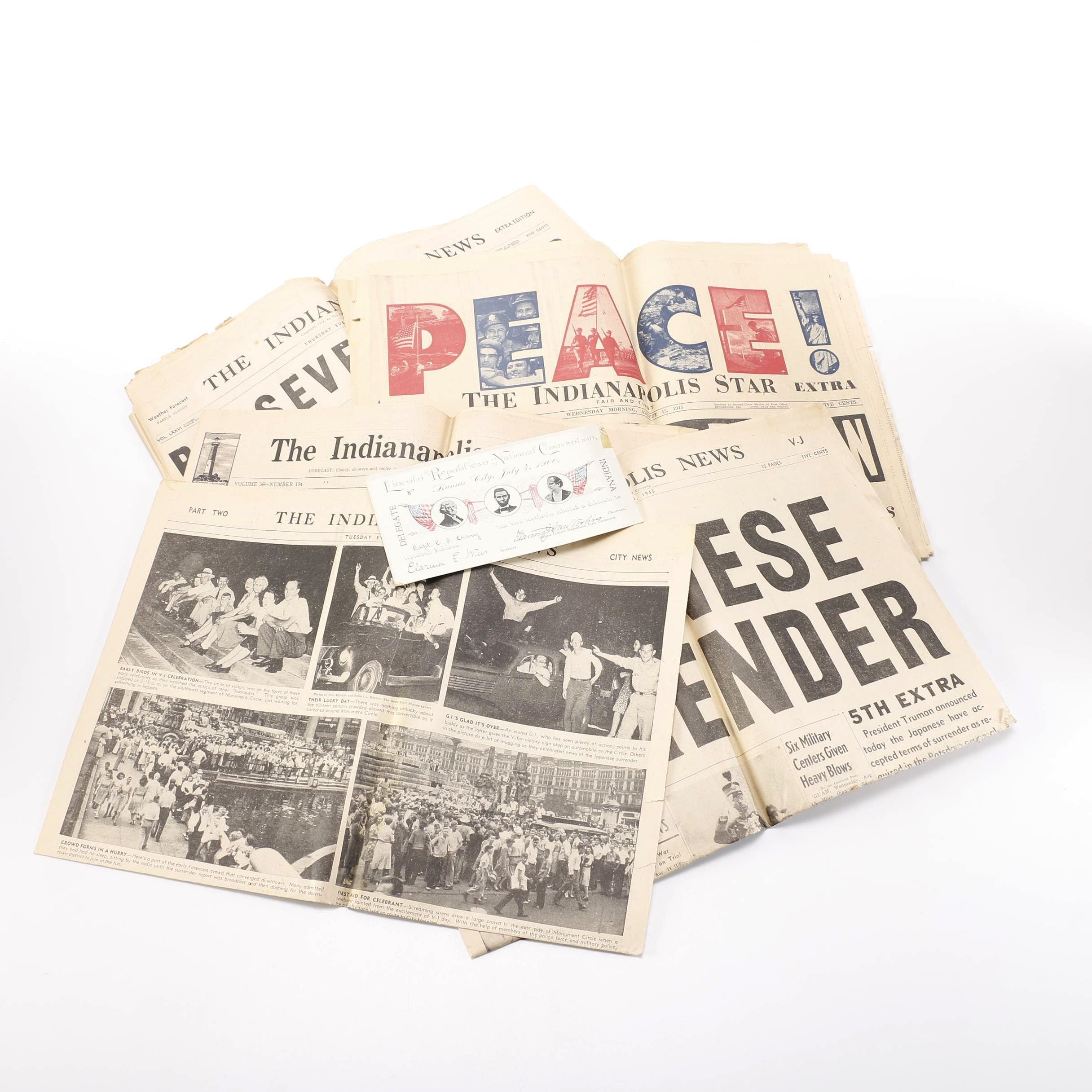 1940s WWII Newspaper Articles