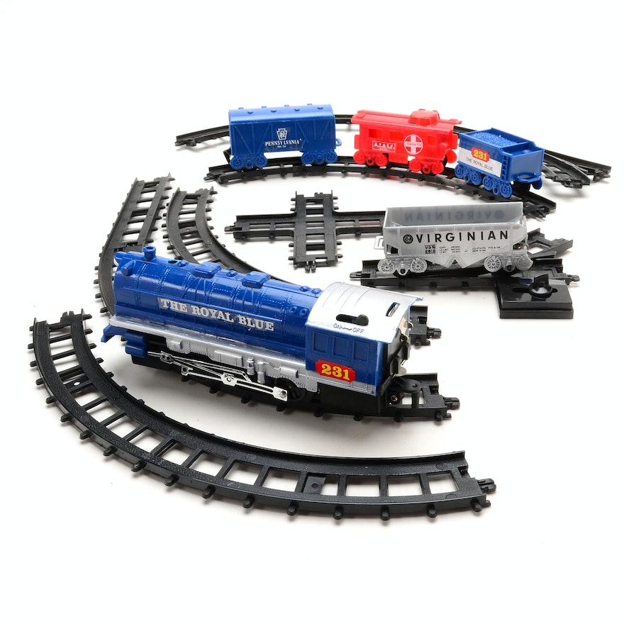 Battery Train Set : Battery operated quot the royal blue train set ebth
