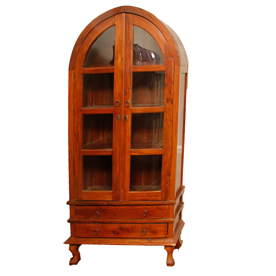 Antique Cherry China Cabinet ... - Antique Cherry China Cabinet