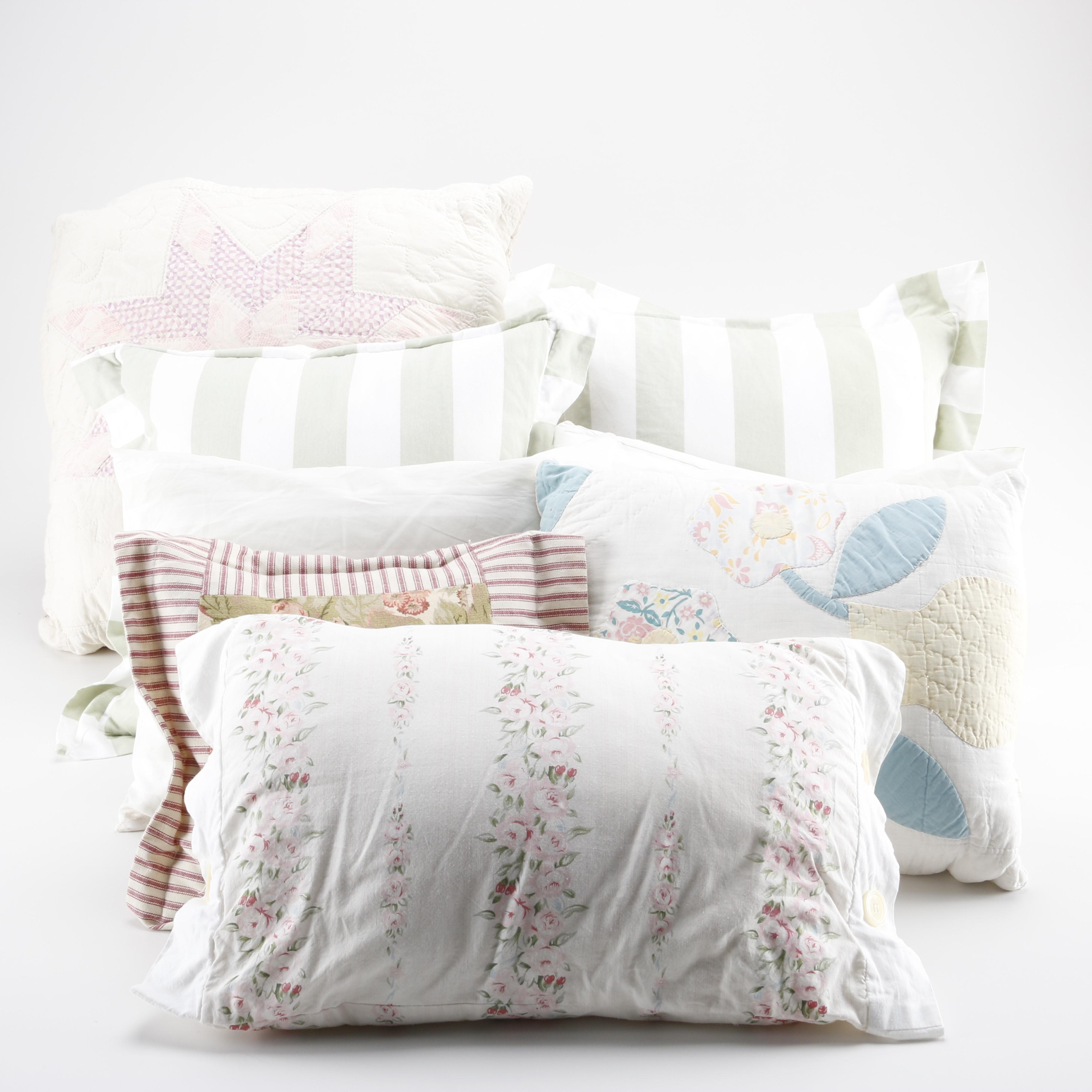 Accent Pillows Including Floral Prints
