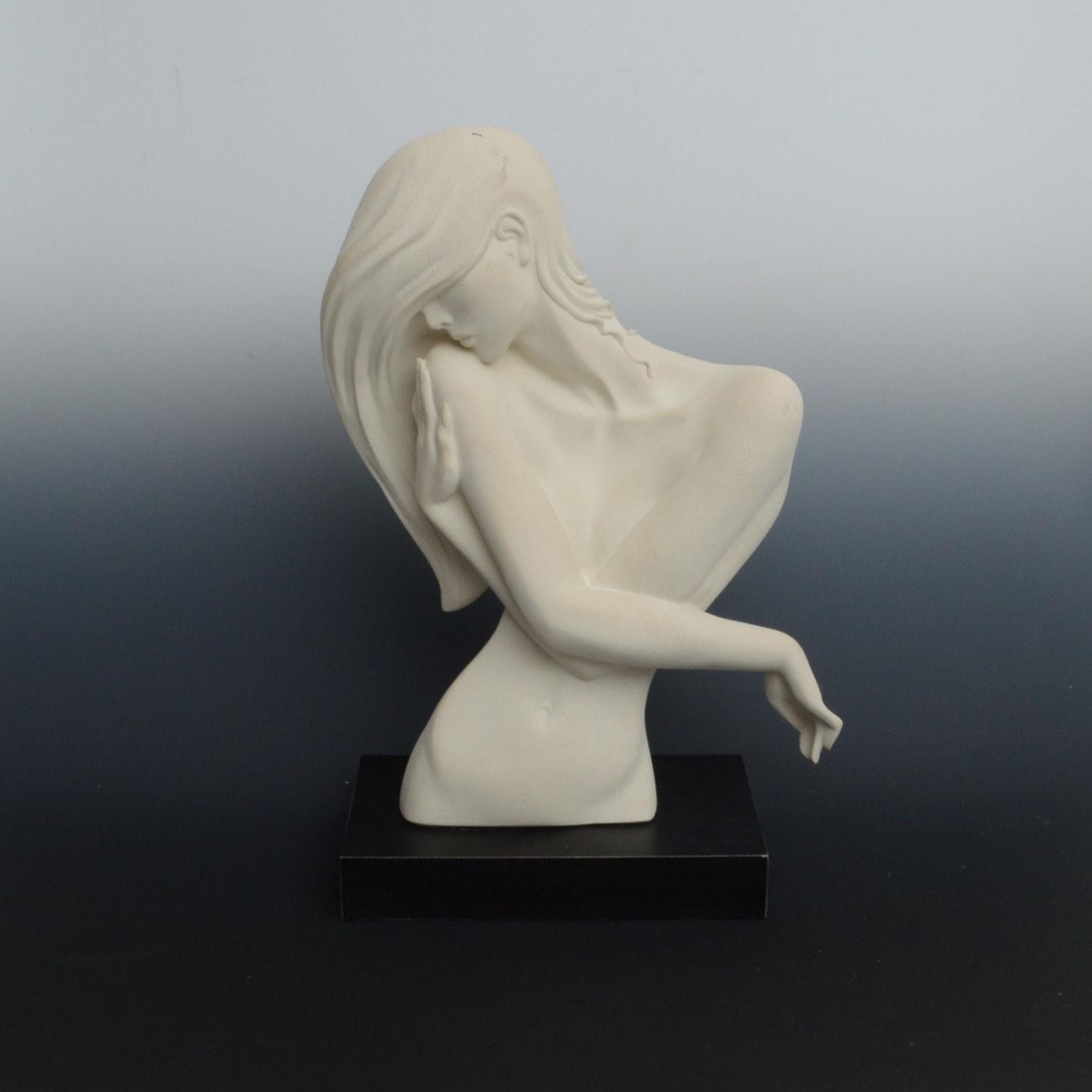 """Alexsander Danel """"Torso Of a Woman"""" Sculpture"""