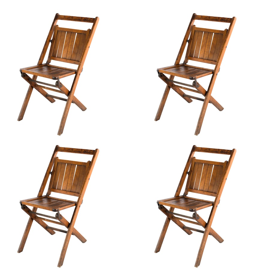 Early 20th Century Wooden Folding Chairs EBTH