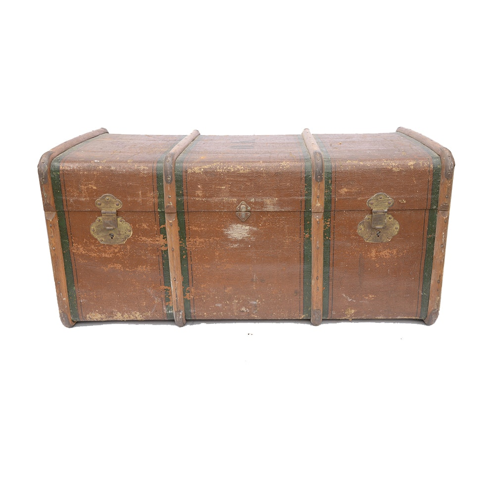Vintage Circa 1931 Steamer Chest