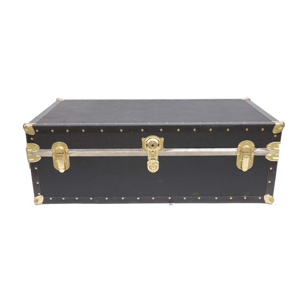 Black Steamer Trunk