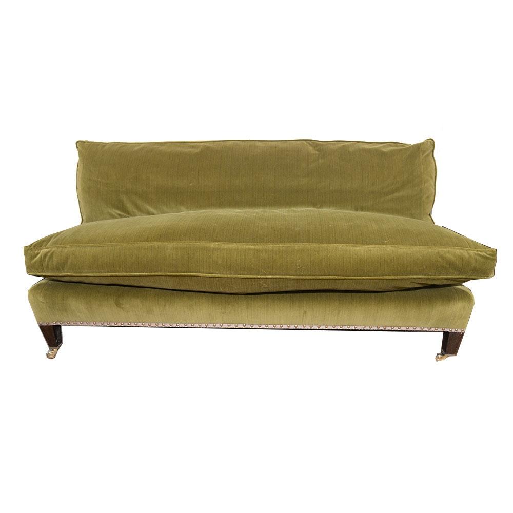 Muriel Brandolini Vintage Chartreuse Green Velour Settee