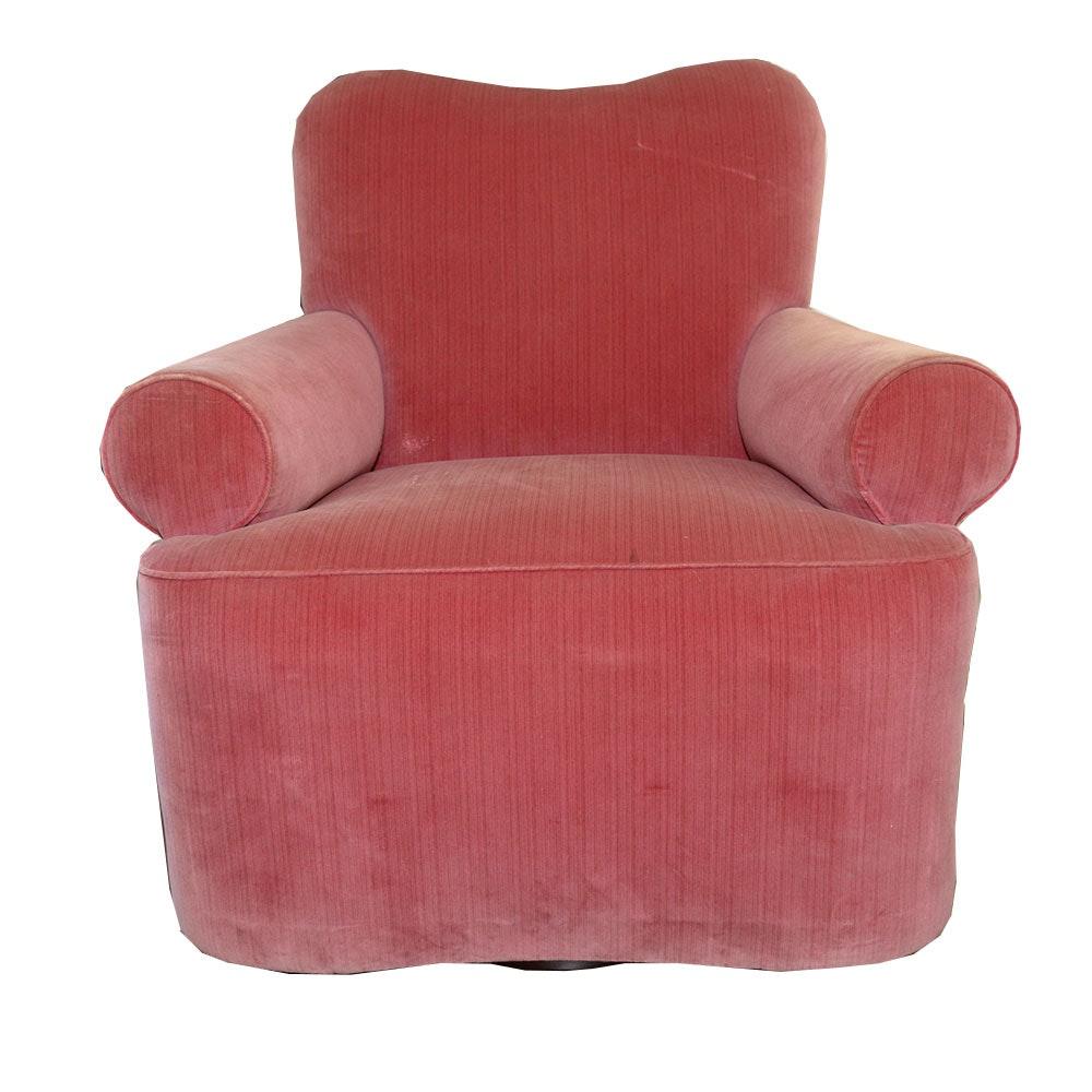 Vintage Fuschia Velour Arm Chair Designed By Muriel Brandolini ...