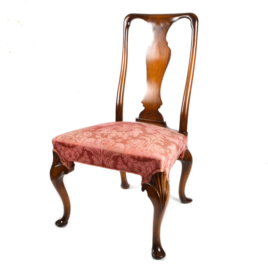 Queen anne chair history - Queen Anne Style Side Chair
