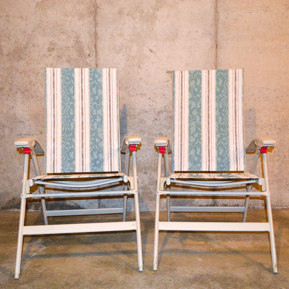 Pair of Patio Lounge Chairs by Shincrest