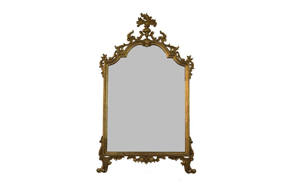 Ornate Vintage Gilded Wall Mirror