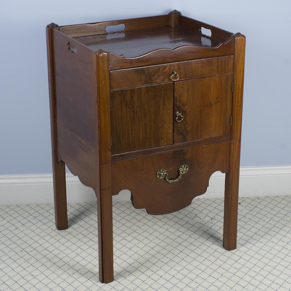 Antique George III Style Mahogany Commode, Circa 19th Century